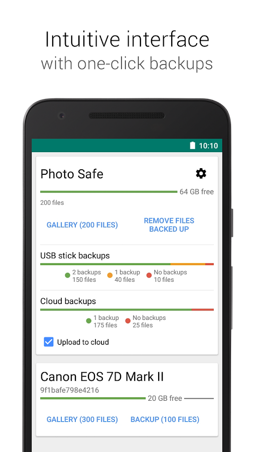 Photo Safe - backup on the go- screenshot