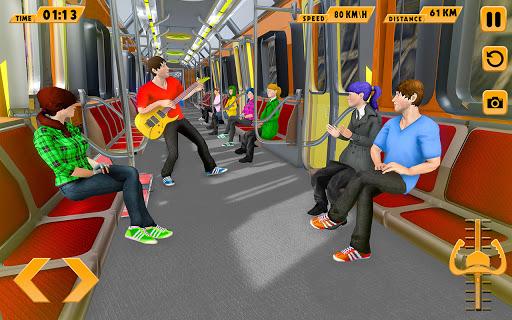 Modern Train Driving Simulator: City Train Games  screenshots 4