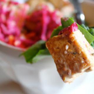 Brown Rice & Tofu Salad Bowl.