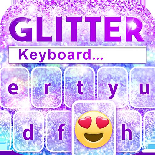 Glitter Emoji Keyboard Changer Icon