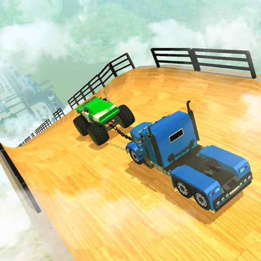 Double Impossible Mega Ramp 3D