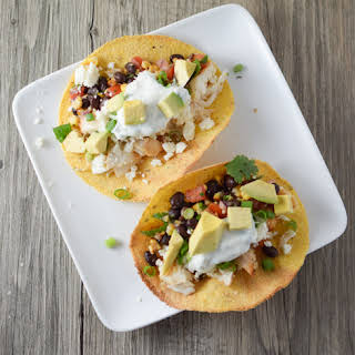 Grilled Fish Tacos with Lime-Cilantro Sauce.