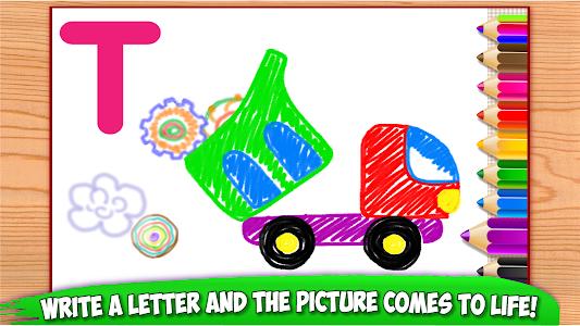 ABC DRAW 🎨 Kids Drawing! Alphabet Games Preschool 이미지[5]