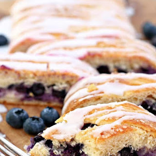 Easy Blueberry Cream Cheese Braid.