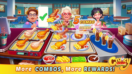 Crazy Chef: Fast Restaurant Cooking Games apkslow screenshots 13