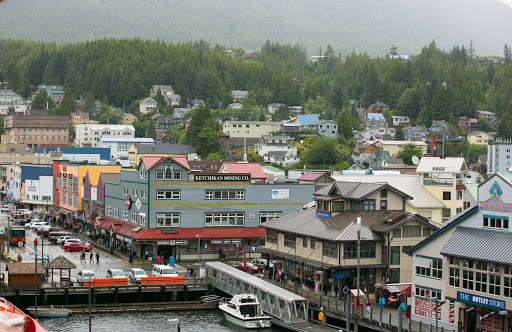 ketchikan-view-from-ship.jpg - View of Ketchikan, Alaska, from aboard Oosterdam docked in port.