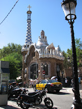 Photo: One of the Gaudi designed buildings in Parc Guell, now a gift shop.