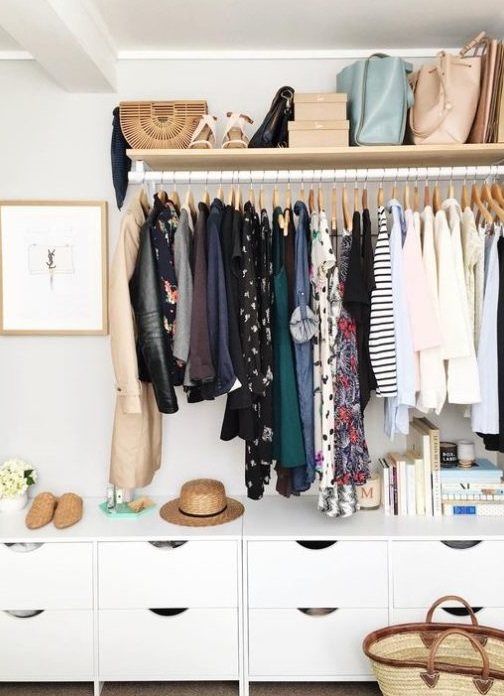 For hanging clothes
