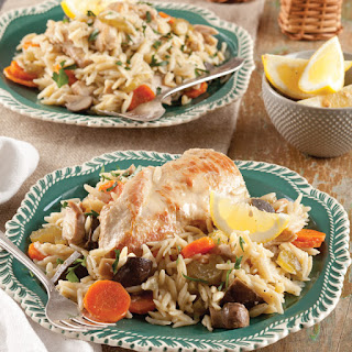 Slow-Cooker Chicken with Orzo.