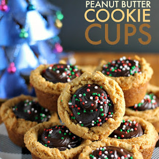 Chocolate Filled Peanut Butter Cookie Cups