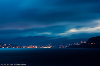 Photo: Drammen in the twilight