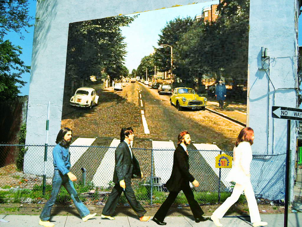 Finding holiday joy through nostalgia from vintage toys for Beatles abbey road wall mural