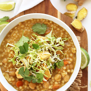 Green Chickpea Curry with Couscous.