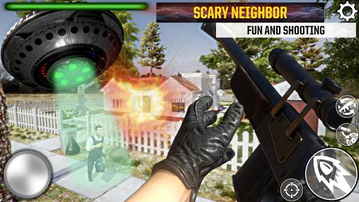 Télécharger Gratuit Granny Kick Neighbor - simulateur d'armes 3D mod apk screenshots 3