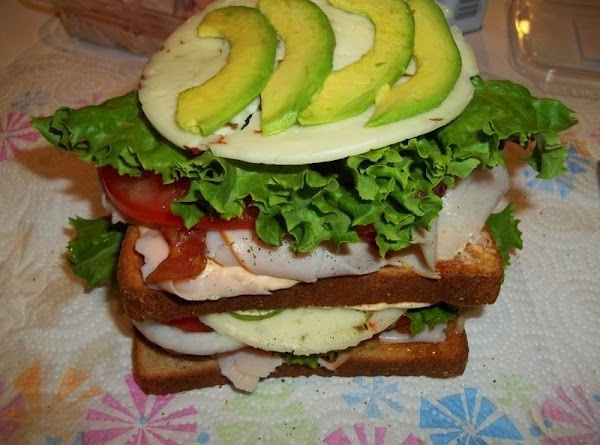 Spread second piece of toast with Mayonnaise and place on top. Repeat layer of...