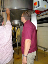 Photo: many of the brewing vessels are height-adjustable for ease of access