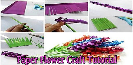 Paper flower craft tutorial apps on google play mightylinksfo