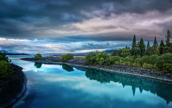 Photo: Lake Tekapo, New Zealand  I'm here at Lake Tekapo this evening... so happy to be home in New Zealand!  And yes, the water is really that color... it all flows from a nearby glacier...  #HolyKaw
