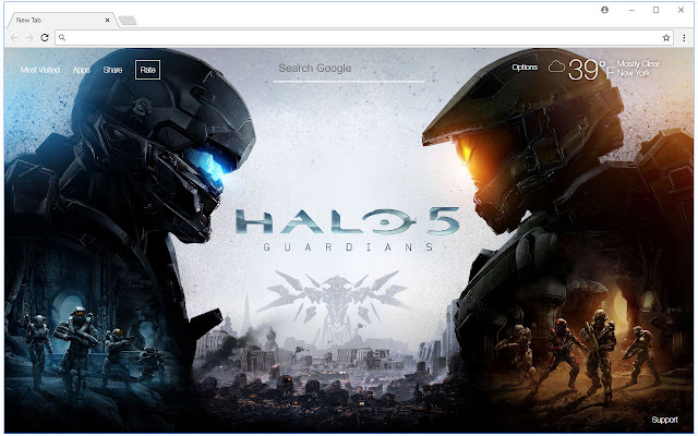 Halo 5 Guardians HD Wallpaper New Tab