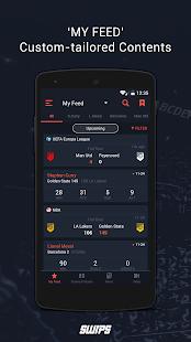SWIPS - football live scores - náhled