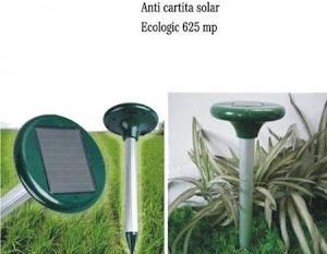Aparat alungat cartite cu alimentare solara - alarma sonica