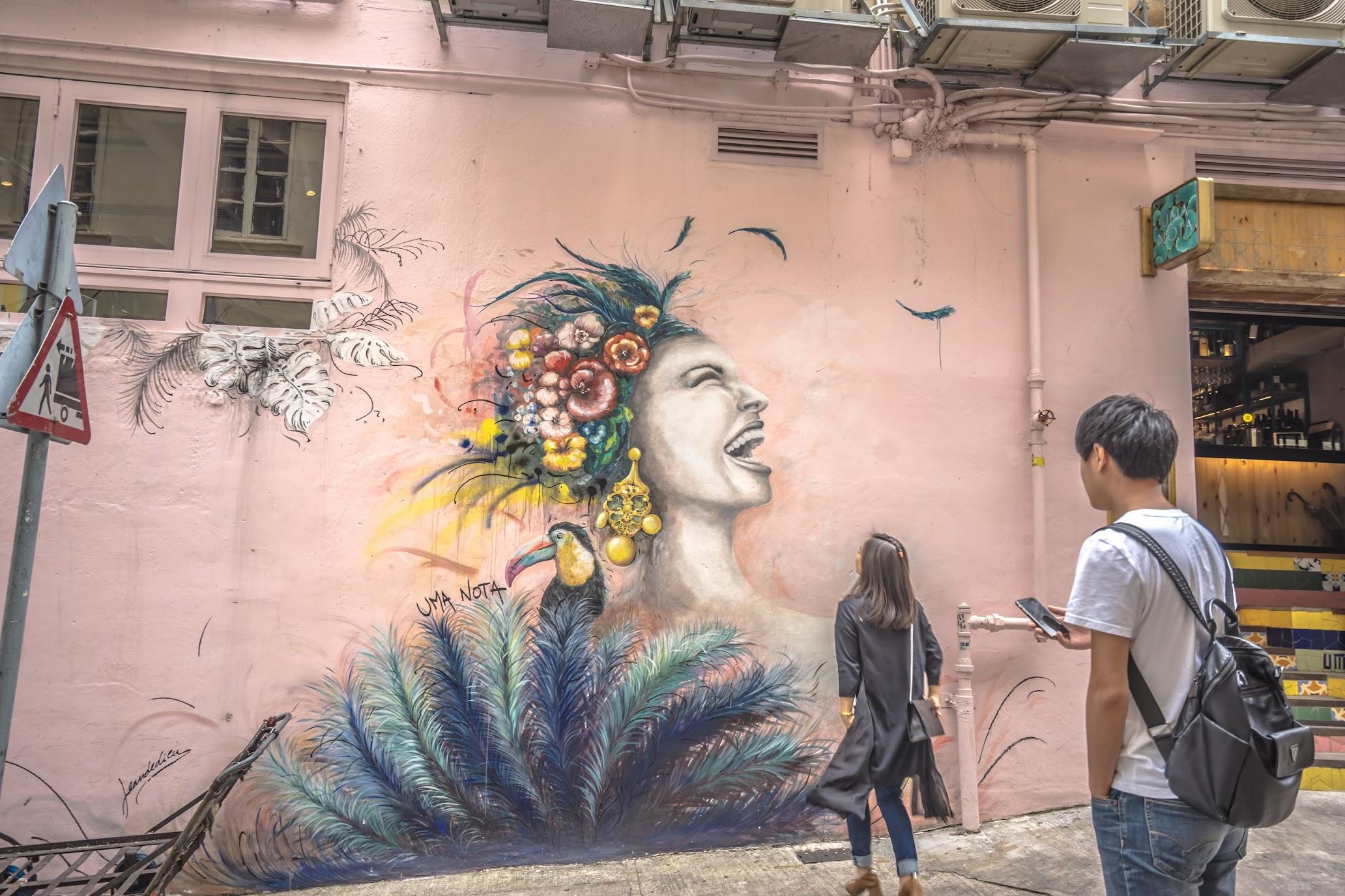 香港 ウォールアート2