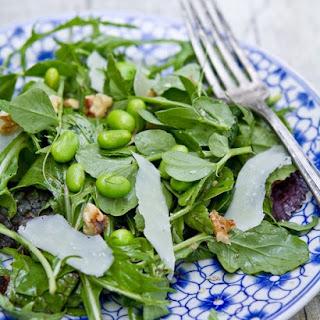 Balsamic Salad with Arugula, Pea Shoots and Parmesan Recipe