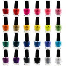 Rows of nail polish