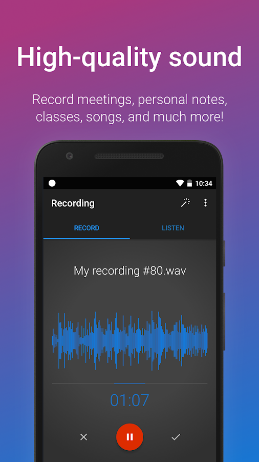 Easy Voice Recorder Pro- screenshot