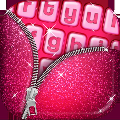 Leuchtend Rosa Tastatur