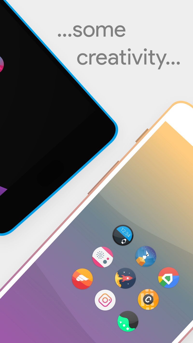 Talitha Round - Icon Pack Screenshot 2