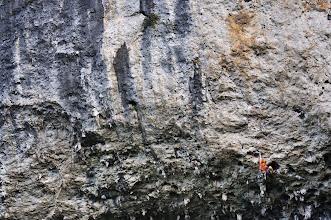 "Photo: Climbing ""Over the Moon(7b+ / 5.12c)"""