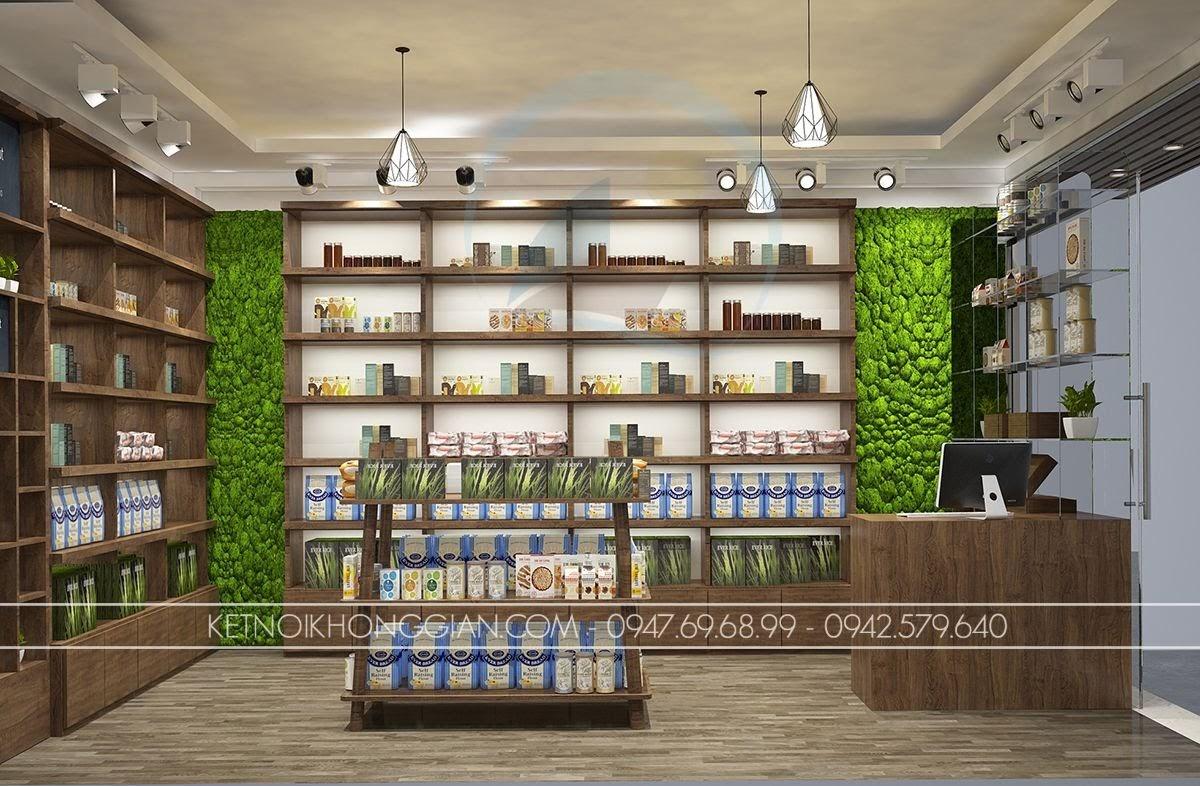 thiết kế cửa hàng thực dưỡng ấn tượng