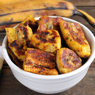 Pan Fried Sweet Plantains.