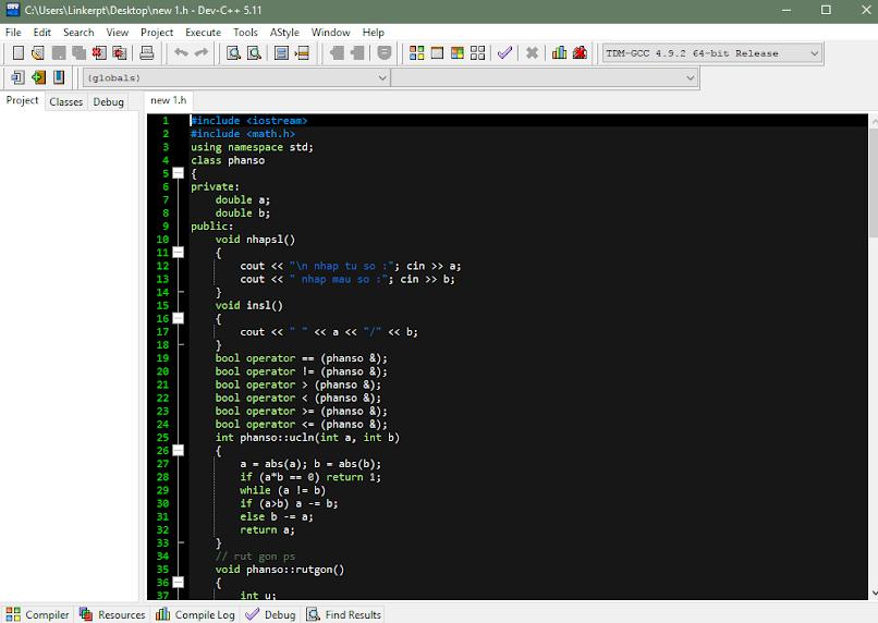 Phần mềm DEV-C ++ không thể thiếu cho dân lập trình