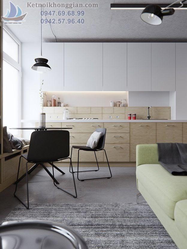 thiết kế phòng khách đẹp cho căn hộ nhỏ