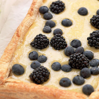 Lemon Curd Tart With Berries