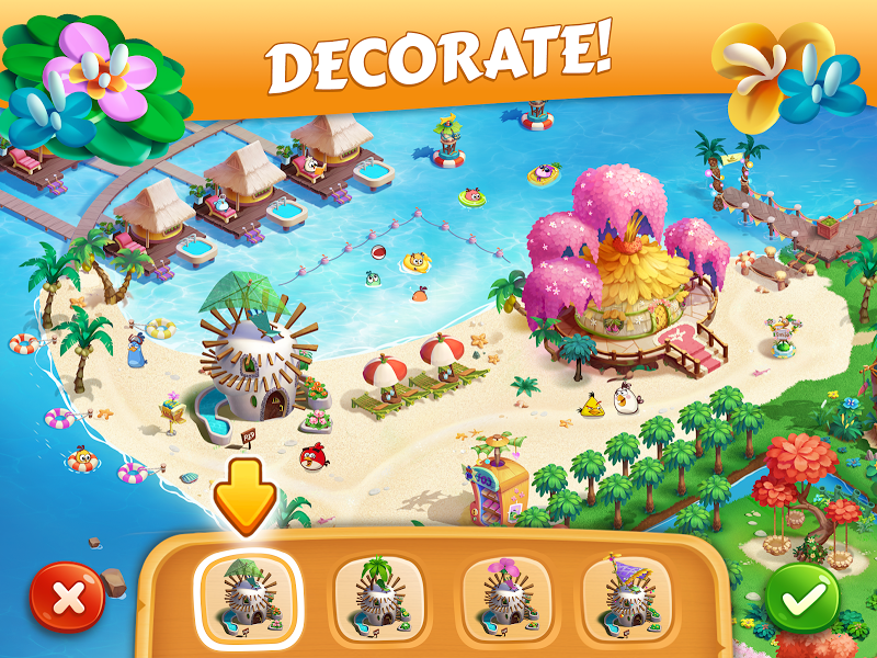Скриншот Angry Birds Island