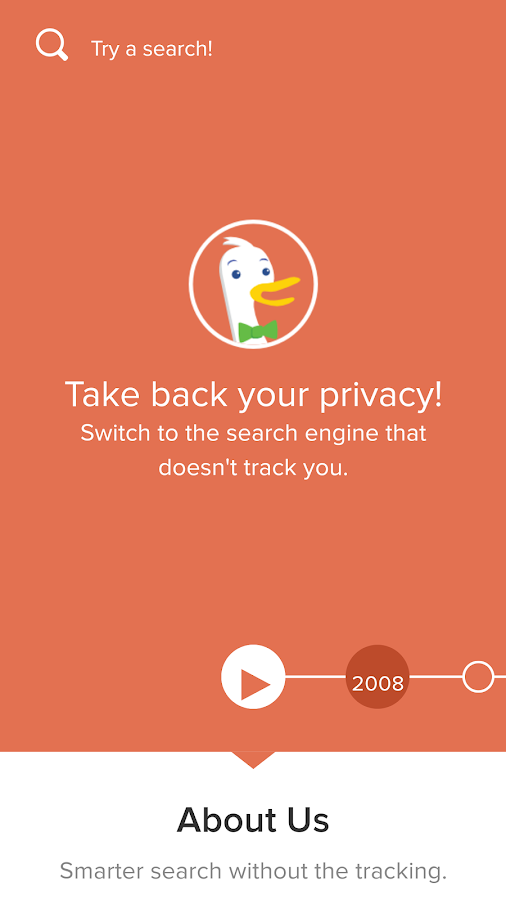 Privacy Browser- screenshot