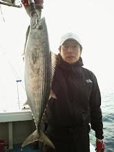 "Photo: おーっと! 初乗船の""キノシタさん""はハガツオ ゲッツ!"
