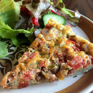 Tomato, Basil & Chicken Frittata Recipe