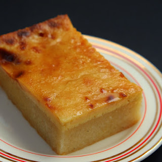 Cassava Cake with Creamy Custard Topping.