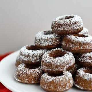 Baked Chocolate Mini Doughnuts 48 mini doughnuts