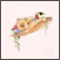 オウムの花帽子