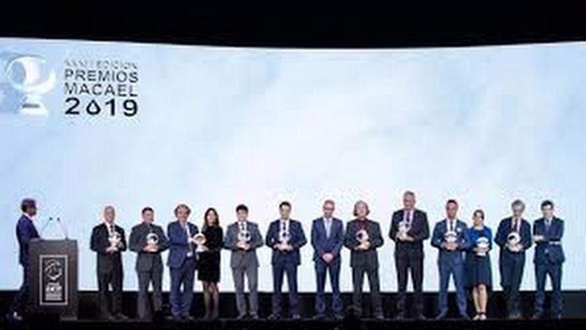 Imagen de la entrega de los Premios Macael 2019.