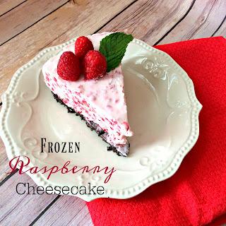 Frozen Raspberry Cheesecake.