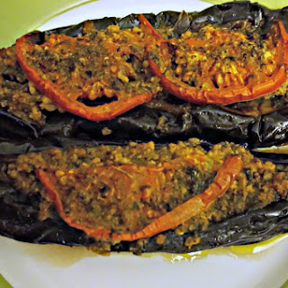 Papoutsakia - Greek Stuffed Eggplants