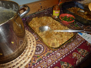 Photo: ALoo Gobi Chana for 71 people in the big pot   being served up in small batches.jpg