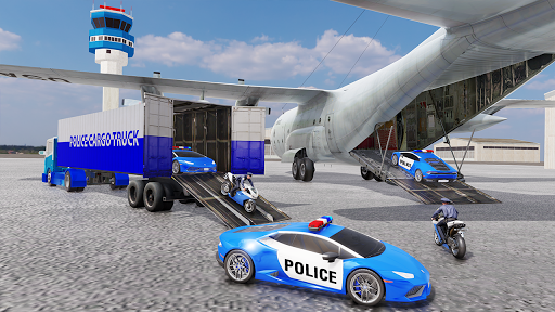 US Police Transporter Plane Simulator screenshot 2