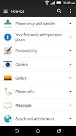 HTC Help Screenshot 1